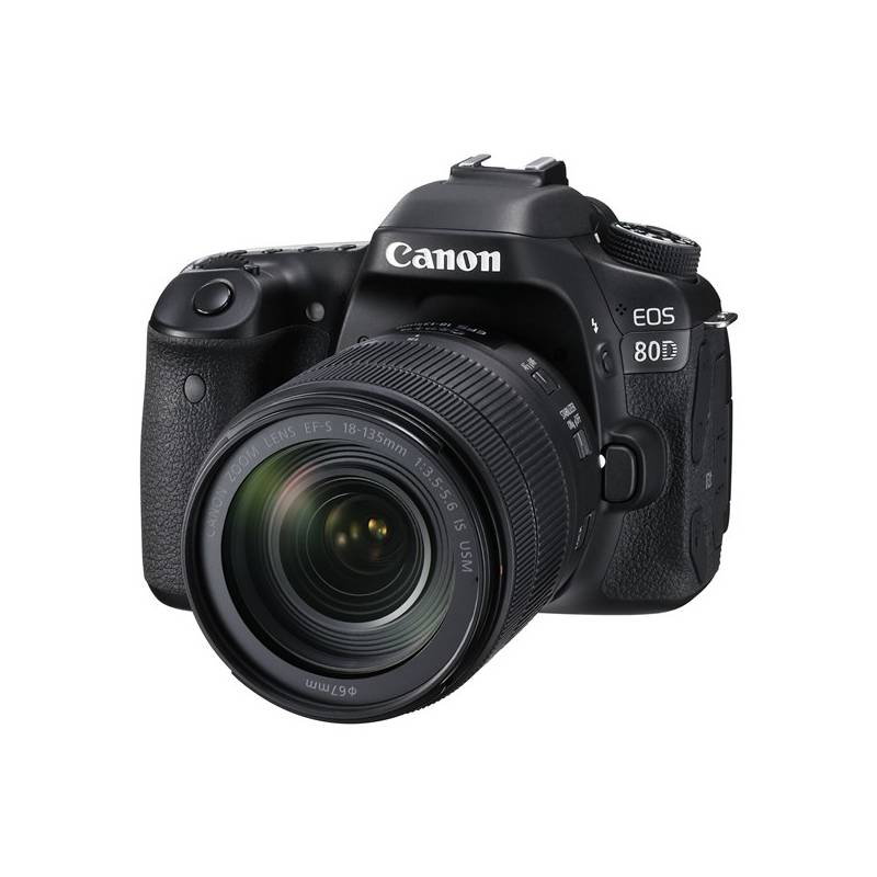 Digitálny fotoaparát Canon EOS 80D + 18-135 IS USM (1263C041) čierny + Doprava zadarmo