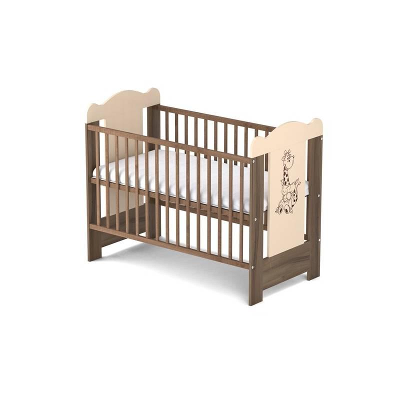 Postieľka detská drevená Baby Sky MISIEK 114 ořech