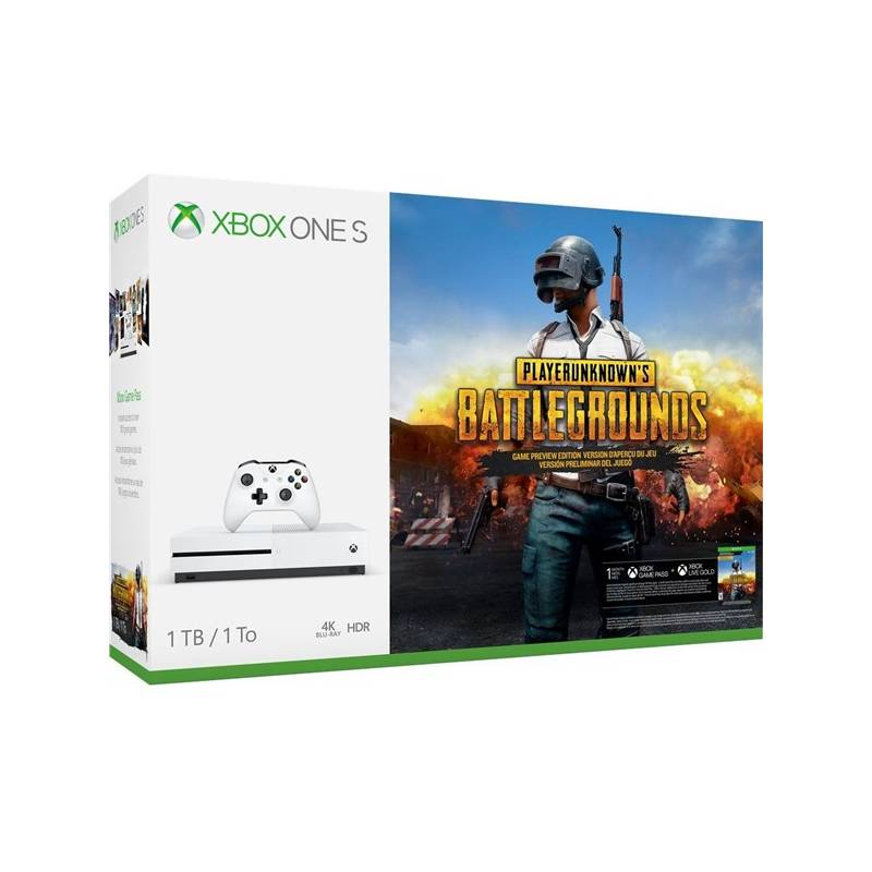 39460279e Herná konzola Microsoft Xbox One S 1 TB + PlayerUnknown's Battlegrounds  (234-00310)