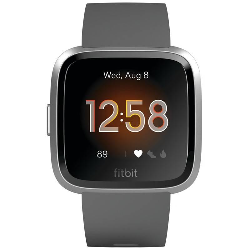 Chytré hodinky Fitbit Versa Lite - Charcoal Band / Silver Case (FB415SRGY)