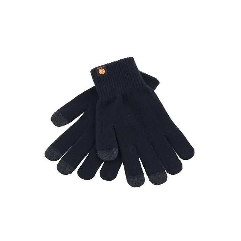 Rukavice GoGEN pro dotykové displeje velikost L (GOGRUKAVICELB) černá barva