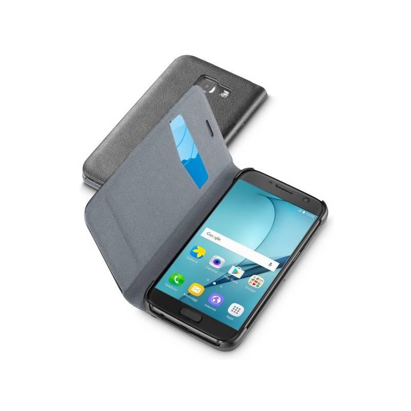 Puzdro na mobil flipové CellularLine Book Essential pro Samsung Galaxy A5 (2017) (BOOKESSGALA517K) čierne
