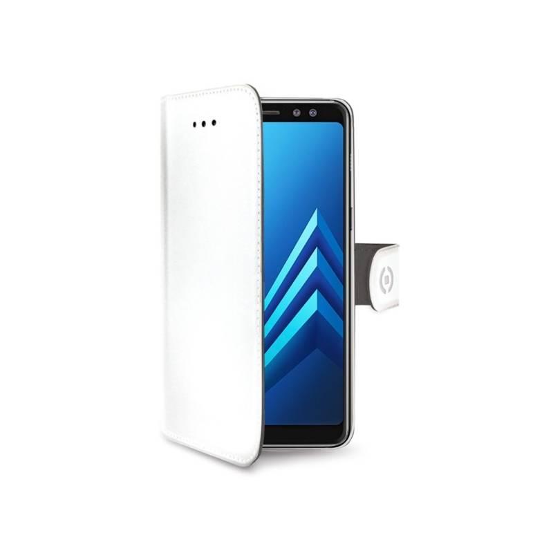 Puzdro na mobil flipové Celly Wally pro Samsung Galaxy A8 (2018) (WALLY705WH) biele