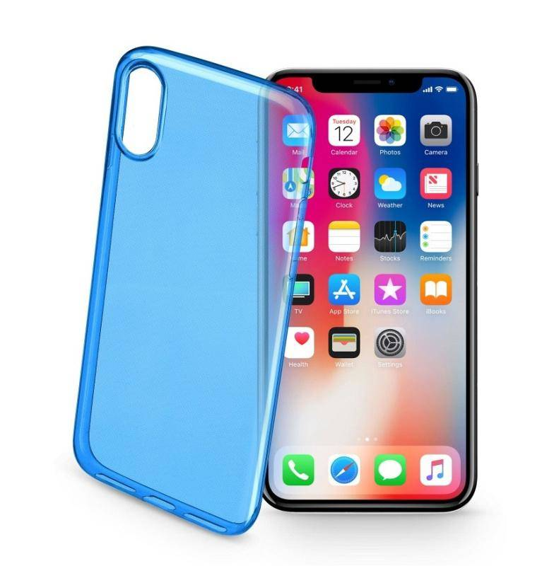 Kryt na mobil CellularLine pro Apple iPhone X (444990) modrý