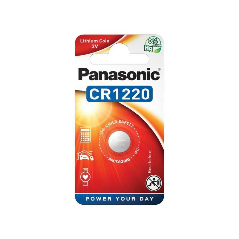 Batéria lítiová Panasonic CR1220, blistr 1ks (CR-1220EL/1B)