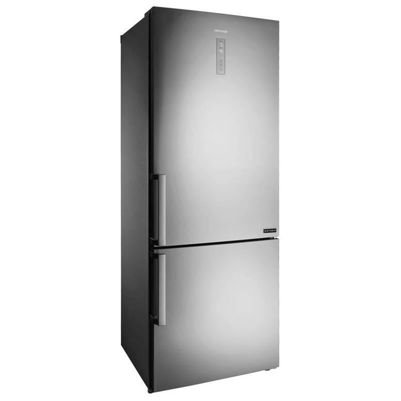 Kombinácia chladničky s mrazničkou Concept LK5470SS + Doprava zadarmo