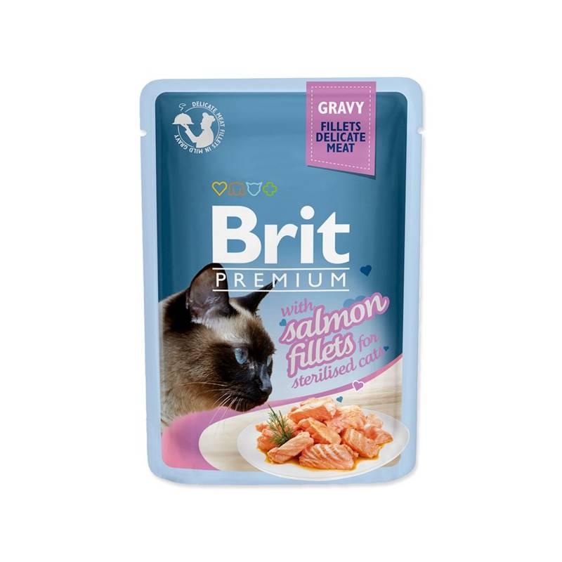 Kapsička Brit Premium Cat D Fillets in Gravy for Sterilised 85 g