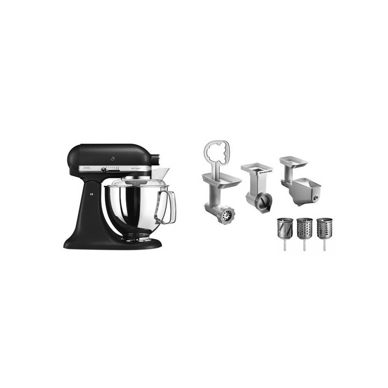 Set KitchenAid - kuchyňský robot 5KSM175PSEBK + FPPC balíček s příslušenstvím + Doprava zadarmo