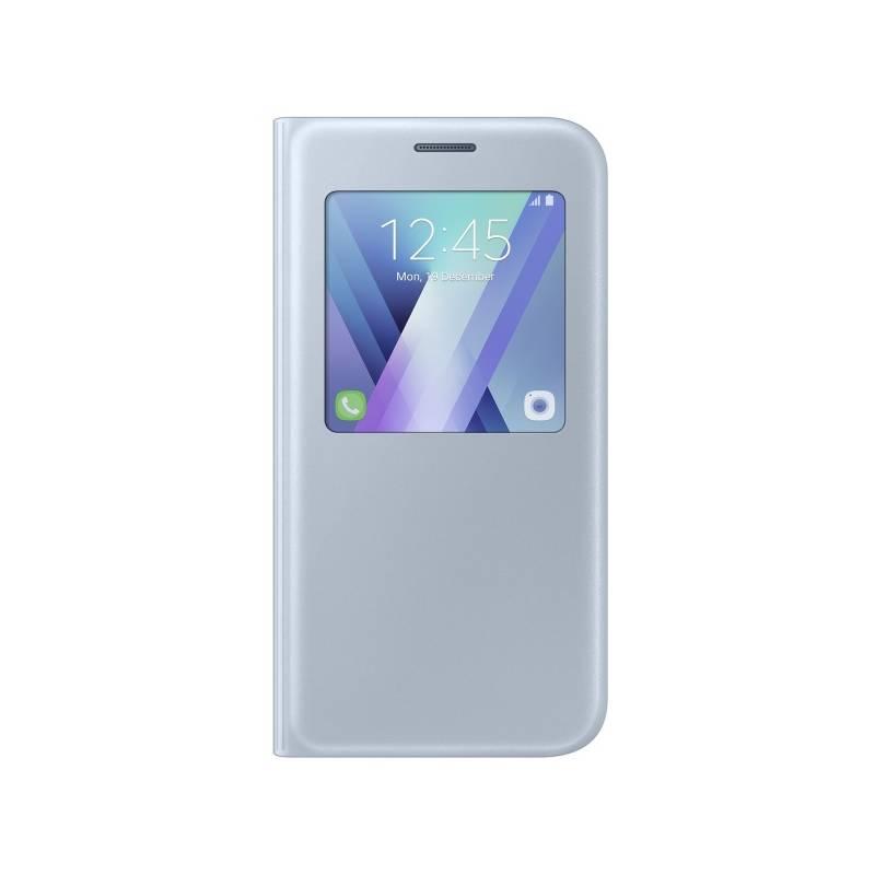 Pouzdro na mobil flipové Samsung S-View pro Galaxy A5 2017 (EF-CA520PLEGWW) modré