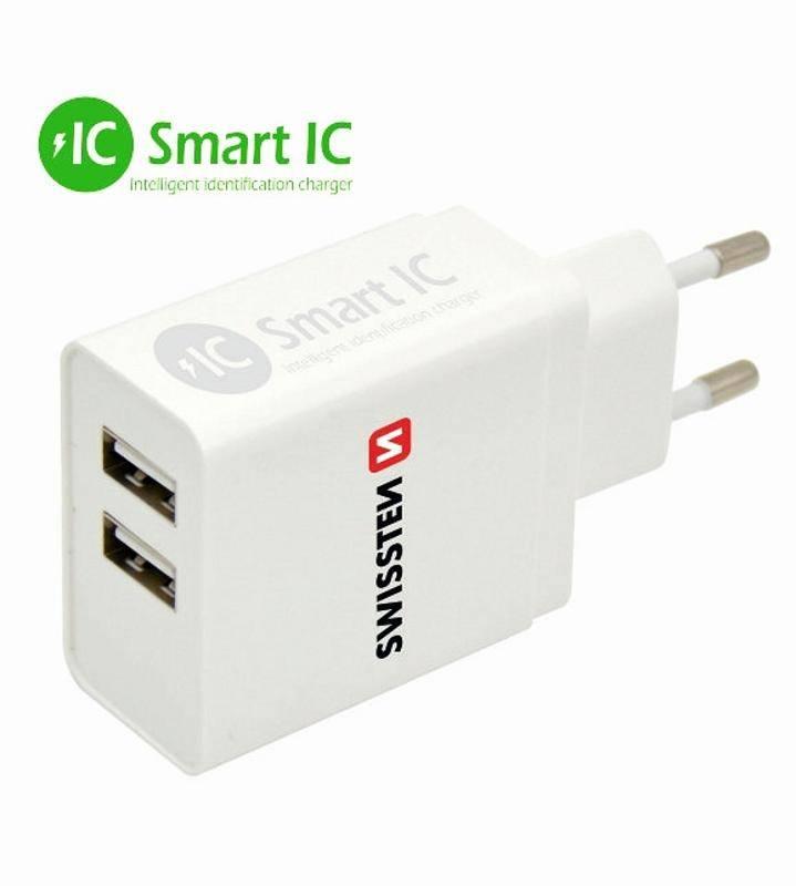 Nabíjačka do siete Swissten 2x USB 3,1A biela