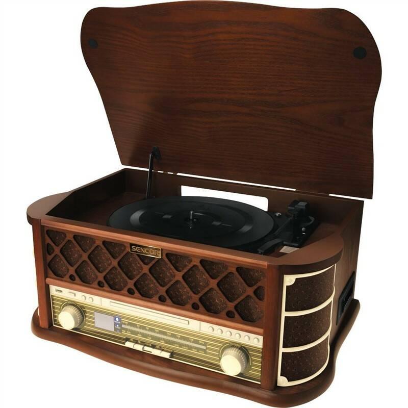 Gramofón Sencor STT 016, RETRO (35037004) drevené + Doprava zadarmo