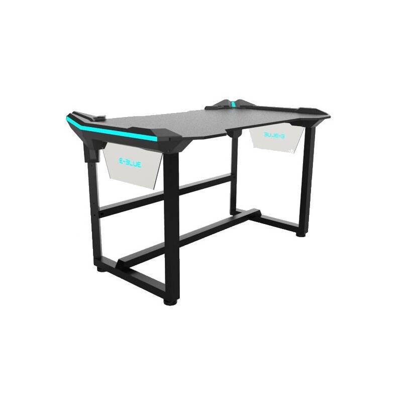 Herný stôl E-Blue 136,5 x 80,3 cm, podsvícený (EGT536BKAA-IA) čierny