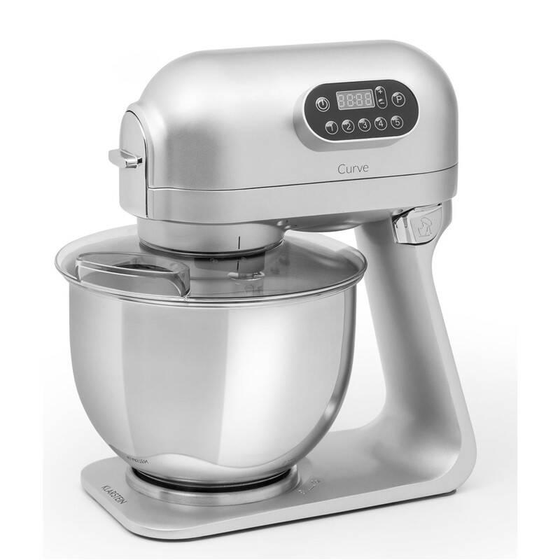 Kuchyňský robot Klarstein Curve stříbrný