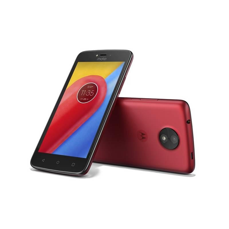 Mobilný telefón Motorola Moto C Dual SIM (PA6L0028CZ) červený