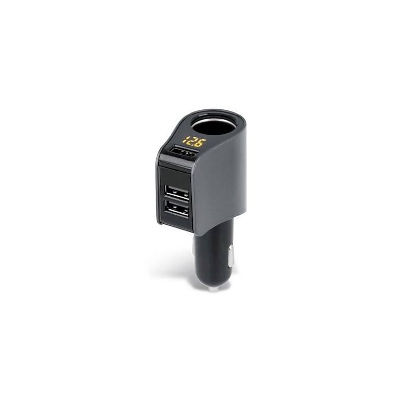 Adaptér do auta Forever CSS-04, 3x USB čierny