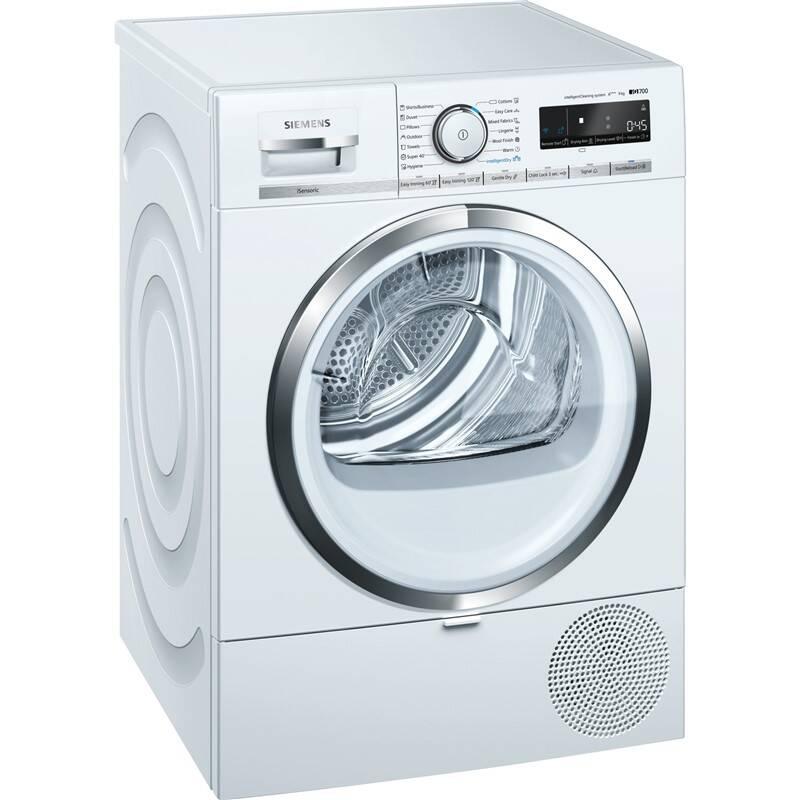 Sušička bielizne Siemens iQ700 WT47XMH0EU biela + Doprava zadarmo