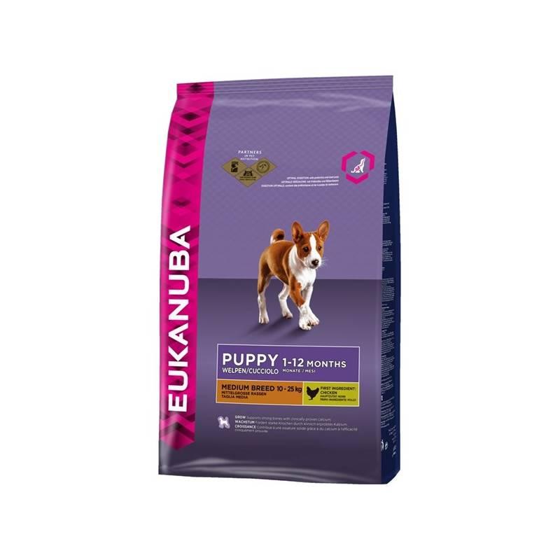 Granuly Eukanuba Puppy & Junior Medium Breed 15 kg + Doprava zadarmo