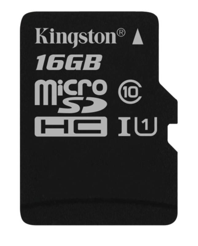 Pamäťová karta Kingston MicroSDHC 16GB UHS-I U1 (45R/10W) (SDC10G2/16GBSP)