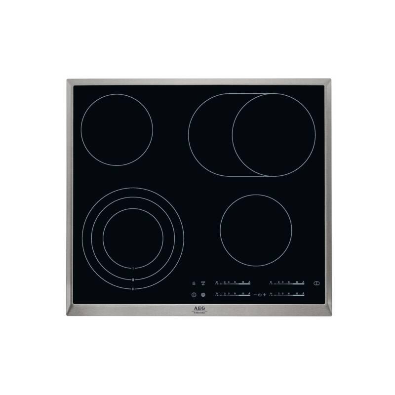 Sklokeramická varná doska AEG Mastery HK654070XB čierna/nerez/sklo + Doprava zadarmo
