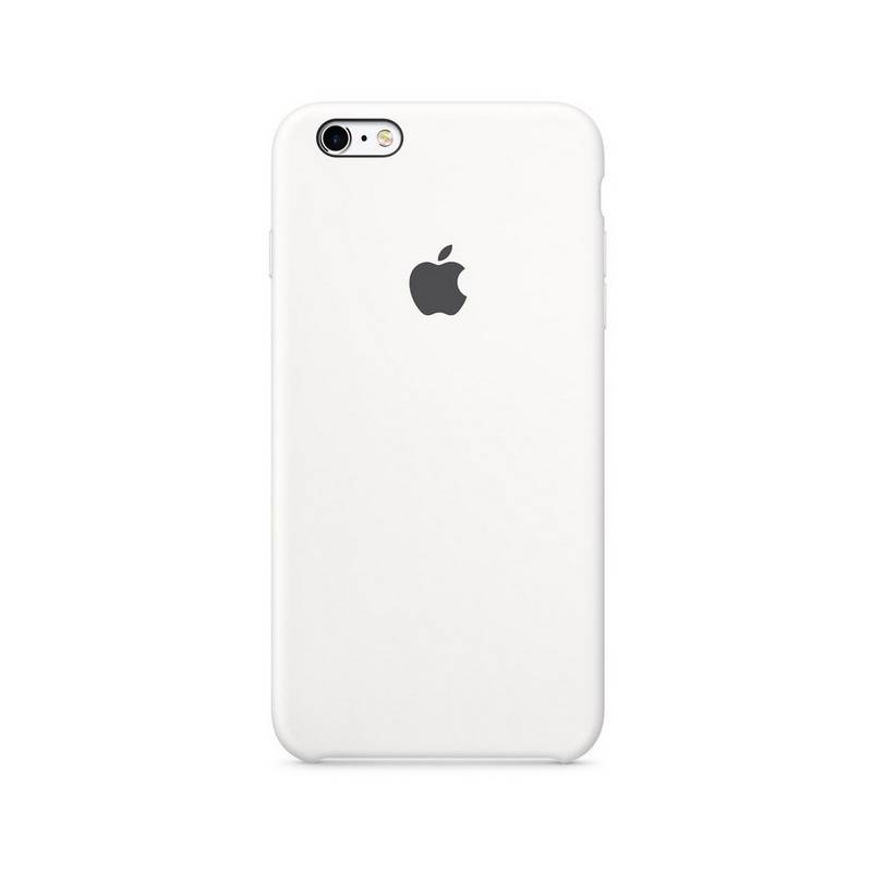 Kryt na mobil Apple Silicone Case pro iPhone 6/6s (MKY12ZM/A) biely