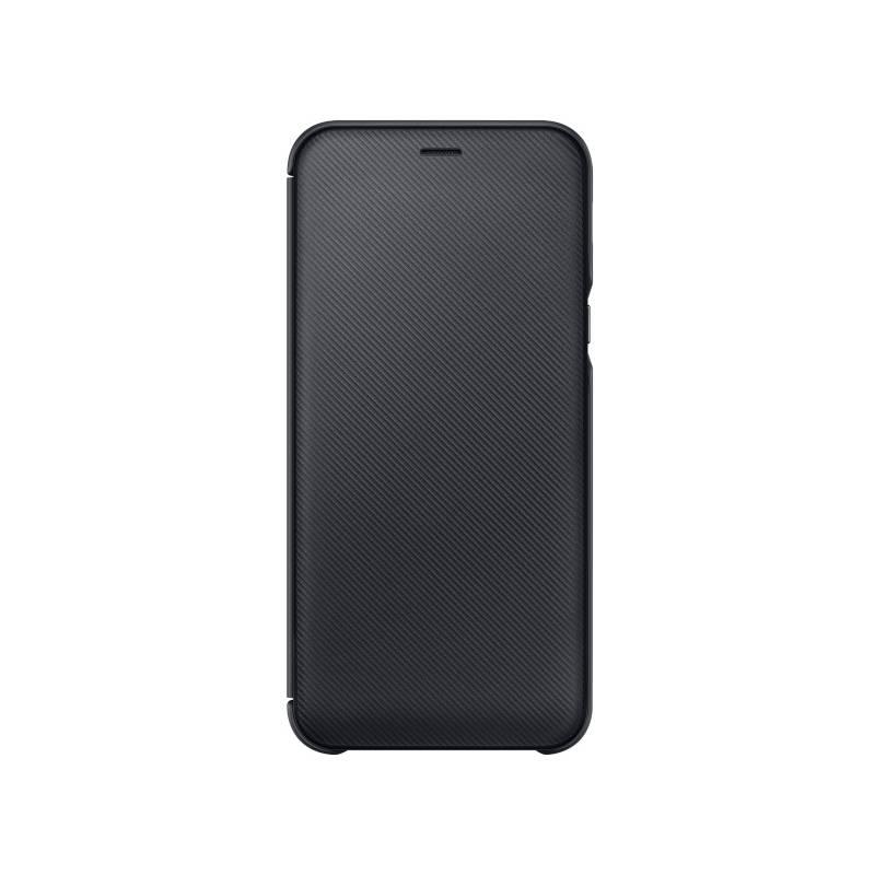 Puzdro na mobil flipové Samsung Wallet Cover pro Galaxy A6 (EF-WA600CBEGWW) čierne