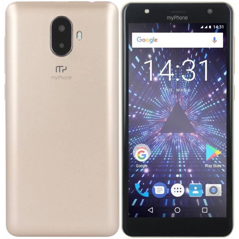 Mobilní telefon myPhone Pocket 18x9 (TELMYAPOCKET189GO) zlatý