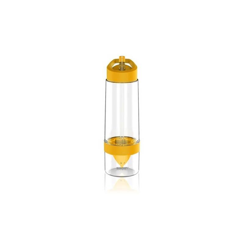 Flaška na pitie BANQUET Sqeezy 0,65 l žltá farba