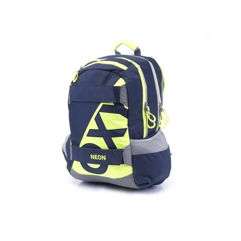 Batoh školský P + P Karton anatomický OXY SPORT Neon Dark Blue  b5e741c572