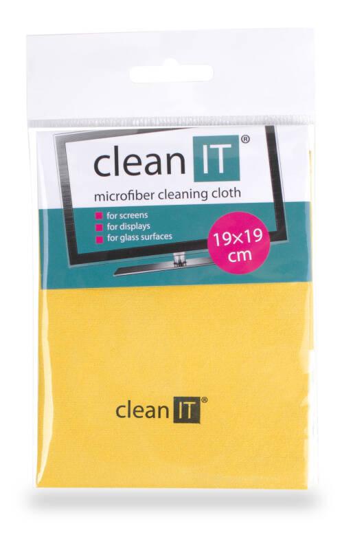 Utěrka Clean IT z mikrovlákna, malá žlutá (CL-712)