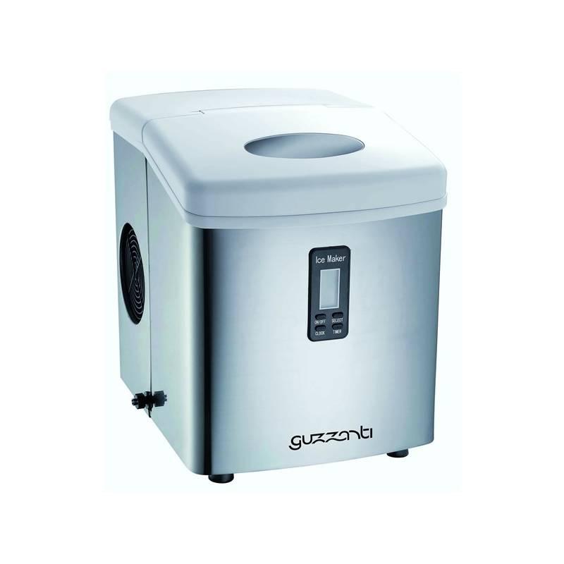 Výrobník ľadu Guzzanti GZ 123 strieborný + Doprava zadarmo