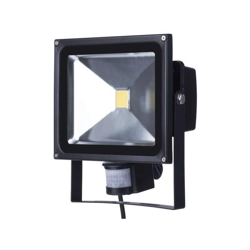 LED reflektor EMOS HOBBY, 50W, neutrální bílá, 3200lm, se senzorem (1531231040) čierny + Doprava zadarmo