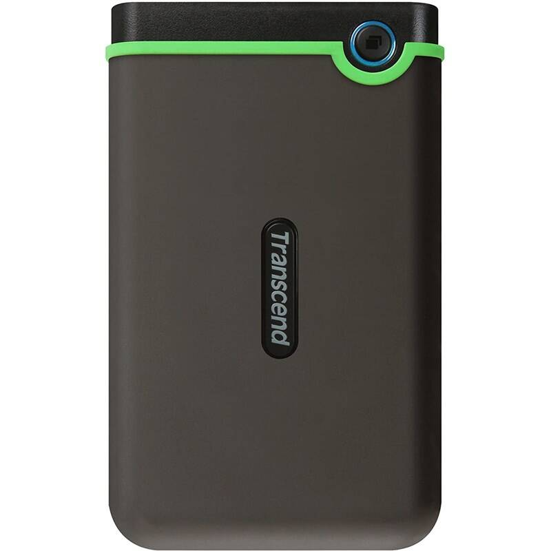Externý pevný disk Transcend StoreJet 25M3C 2TB, USB-C (3.1 Gen 1) (TS2TSJ25M3C) sivý/zelený + Doprava zadarmo