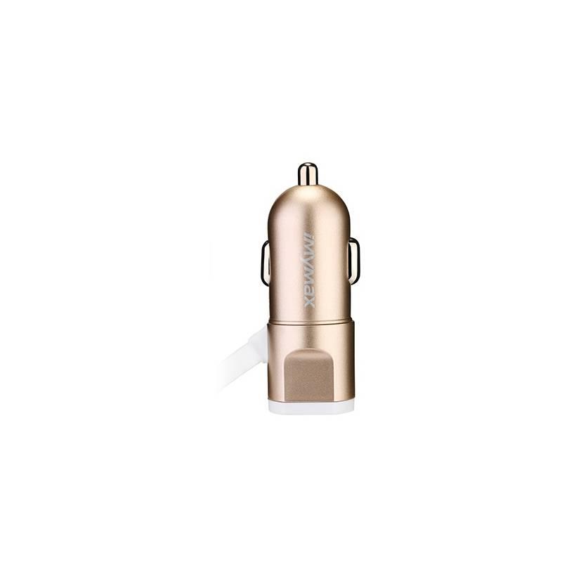 Autonabíjačka iMyMax Fast Car Charger, 1x USB, 3,4A (472484) zlatý