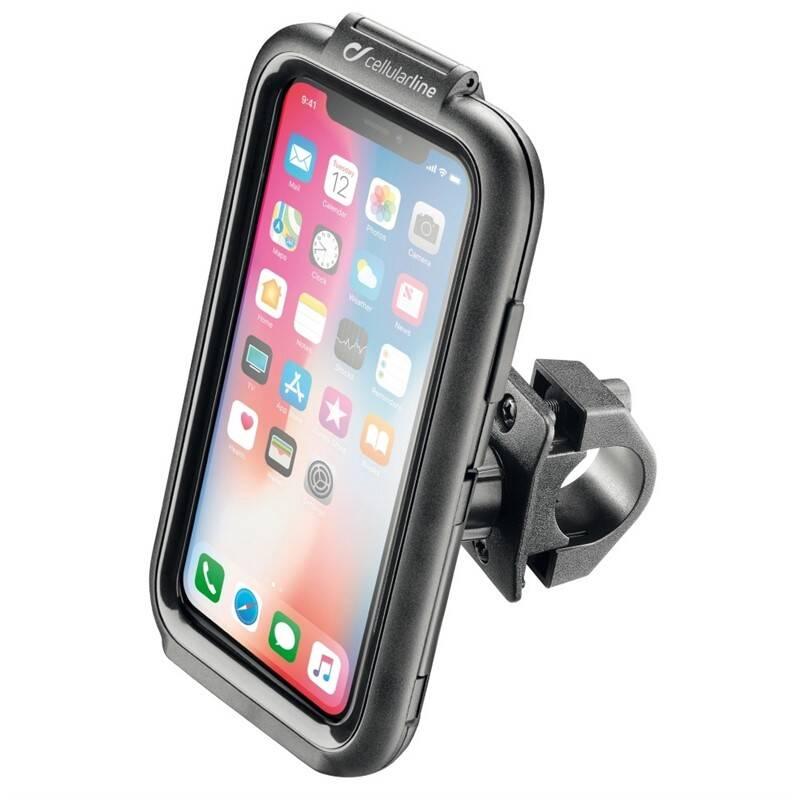 Držiak na mobil Interphone pro Apple iPhone X/Xs, úchyt na řídítka, voděodolné pouzdro (SMIPHONEX)