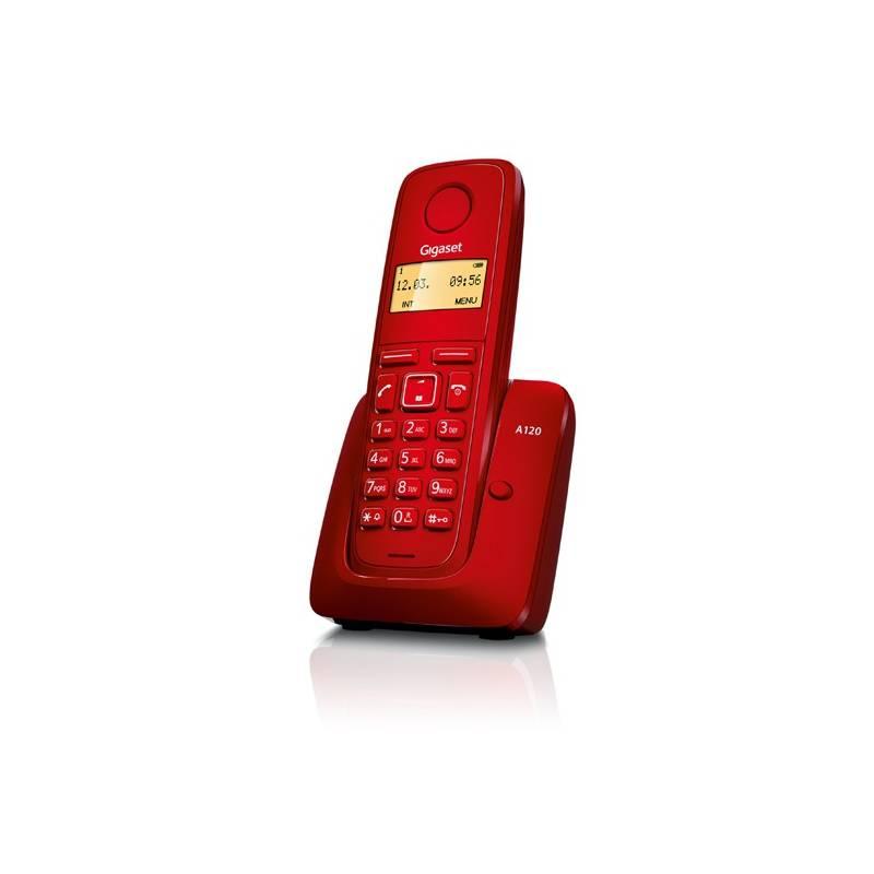 Domáci telefón Siemens Gigaset A120 (S30852-H2401-R604) červený