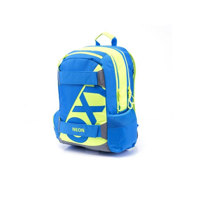 Batoh školský P + P Karton anatomický OXY SPORT Neon Blue