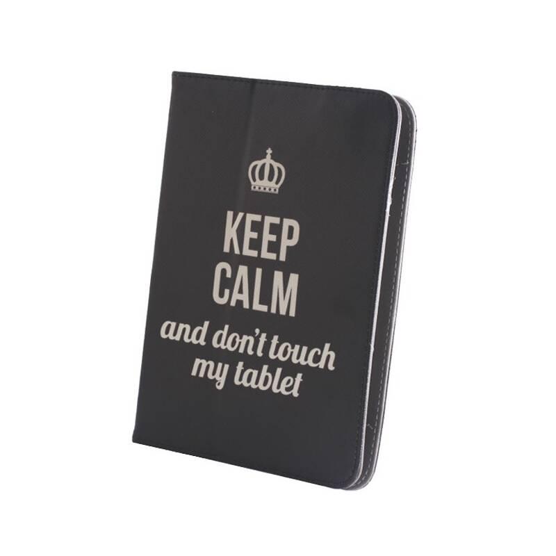 """Púzdro na tablet flipové GreenGo Keep Calm na tablet 7-8"""" (GSM010991)"""