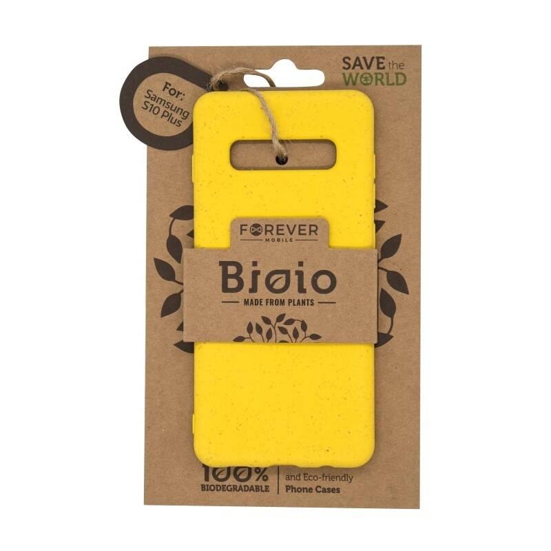 Kryt na mobil Forever Bioio na Samsung Galaxy S10+ (HOUSAS10PLBIOYL) žltý