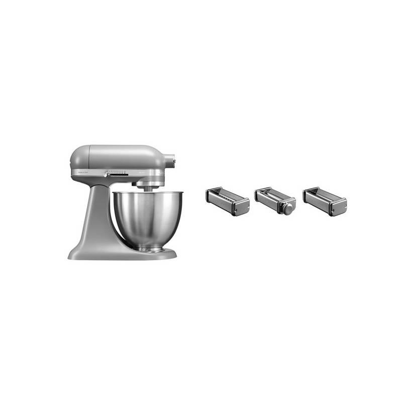 Set KitchenAid - kuchyňský robot 5KSM3311XEFG + KPRA sada strojků na těstoviny + Doprava zadarmo