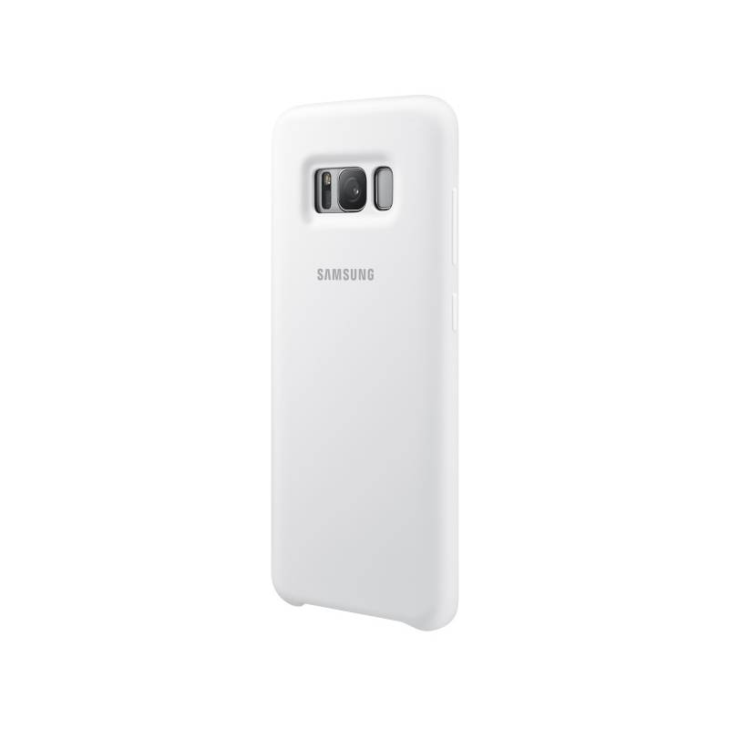 Kryt na mobil Samsung Silicone Cover pro Galaxy S8 (EF-PG950TWEGWW) biely