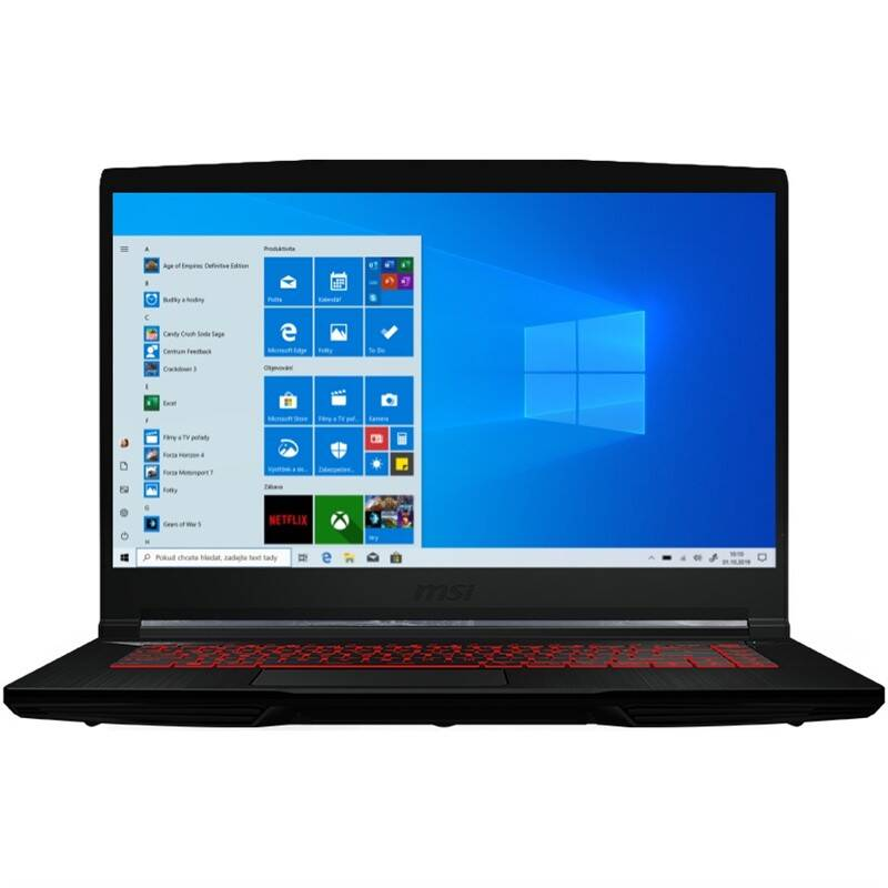 Notebook MSI GF65 Thin 9SD (GF65 Thin 9SD-093CZ) čierny