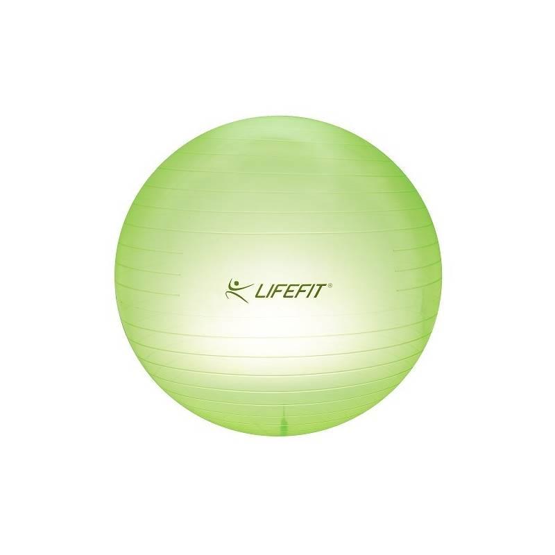 Gymnastická lopta LIFEFIT Transparent 65cm zelený + Doprava zadarmo