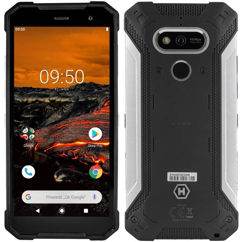 Mobilný telefón myPhone Hammer Explorer Pro (TELMYAHEXPLOPROSI) čierny/strieborný