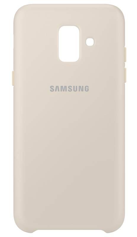 Kryt na mobil Samsung Silicon Cover pro Galaxy J6 (EF-PJ600CFEGWW) zlatý