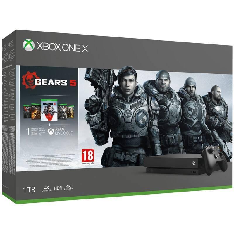 Herní konzole Microsoft Xbox One X 1 TB Gears Family Bundle (CYV-00330)