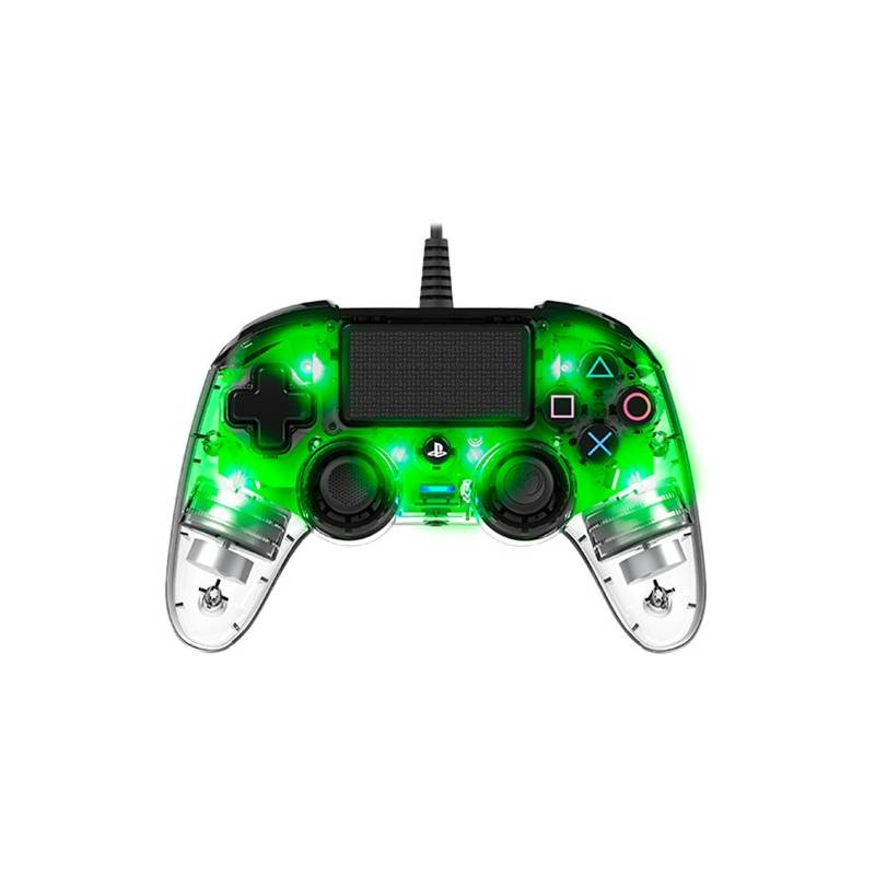 Gamepad Nacon Wired Compact Controller pro PS4 (ps4hwnaconwicccgreen) zelený/priehľadný