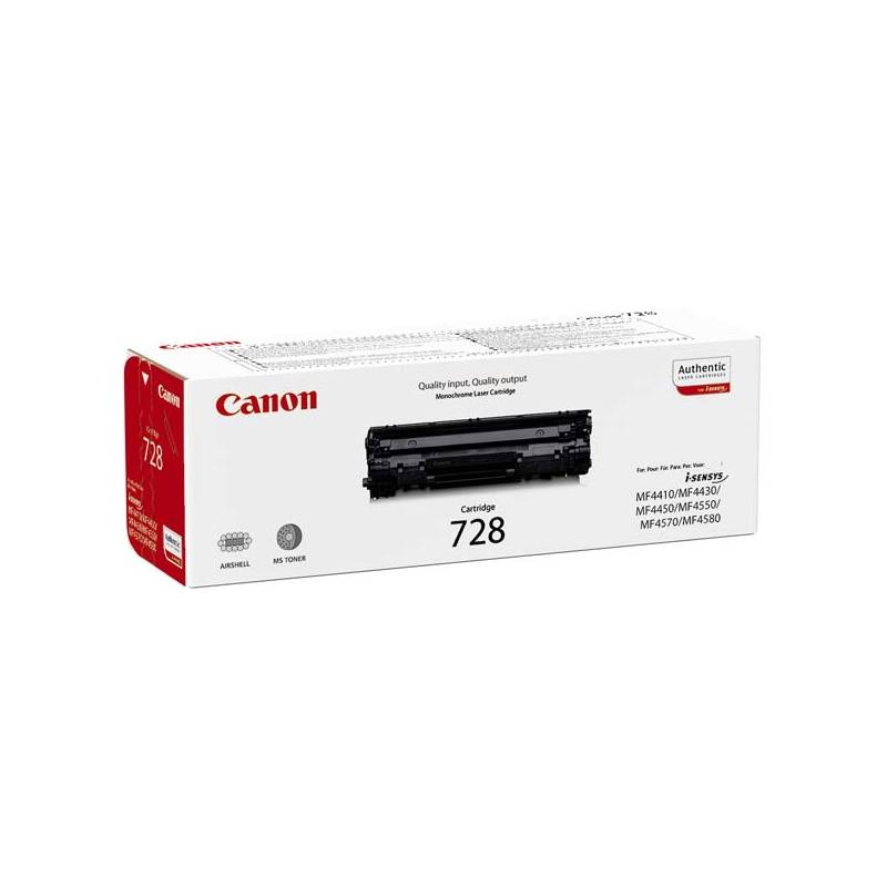 Toner Canon CRG-728, 2,1K stran, originální (3500B002) čierna