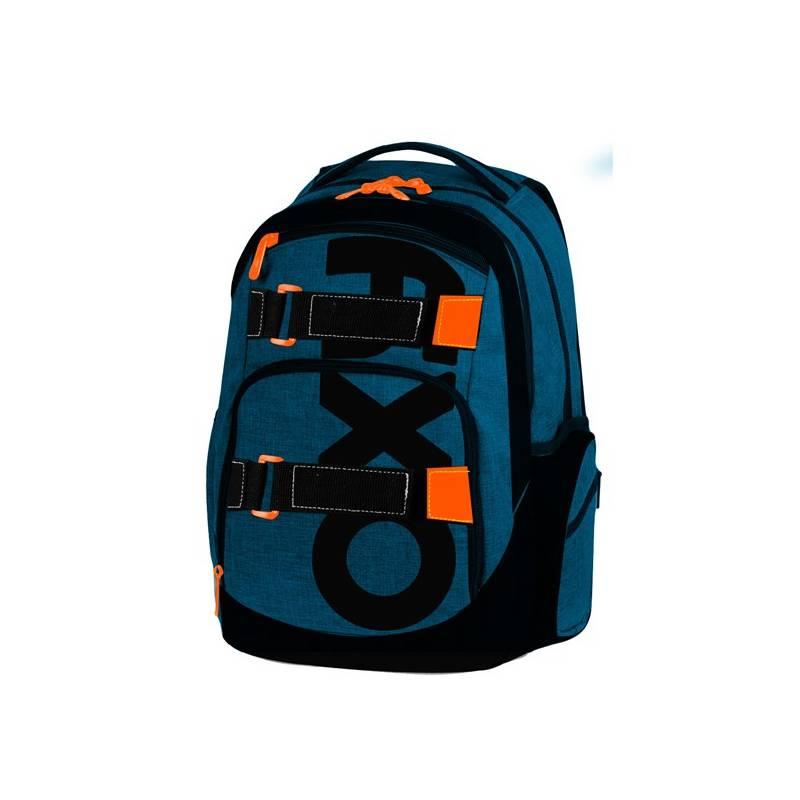 Batoh školský P + P Karton OXY Style Blue študentský Sáček na přezůvky P + P Karton OXY Neon Dark Blue (zdarma)