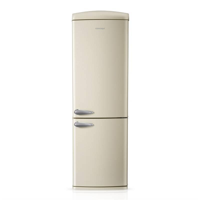 Kombinácia chladničky s mrazničkou Concept LKR7360cr krémová + Doprava zadarmo