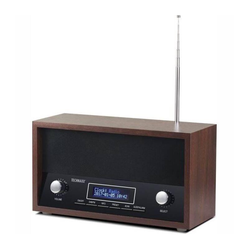 Radiopřijímač s DAB Technaxx TX-95 (4718) černý/dřevo